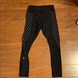 Polka dot lulu leggings size 4